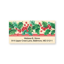 Holly Double Trim Sheeted Address Labels