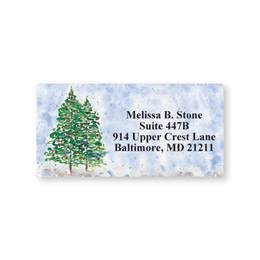 Winter Watercolor Trees Sheeted Address Labels