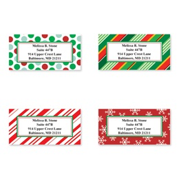 Gift Wrapped Holiday Greetings Assorted Sheeted Address Labels