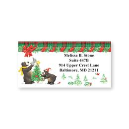 Black Bears Decorating Sheeted Address Labels