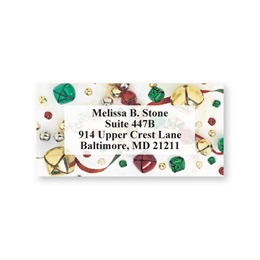 Jingle Bells Holiday Sheeted Address Labels