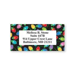 Multicolored Lights Sheeted Address Labels
