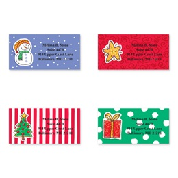 Holiday Doodads Assorted Sheeted Address Labels