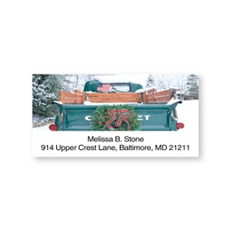Pickup Truck Holiday Sheeted Address Labels