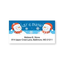 Let It Snow Jolly Snowmen Sheeted Address Labels