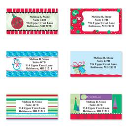 Trendy Christmas Assorted Sheeted Address Labels