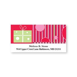 Perfectly Ribboned Present Sheeted Address Labels