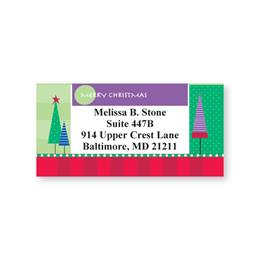 Christmas Trees Fun Prints Sheeted Address Labels