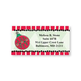 Holiday Ornament Sheeted Address Labels