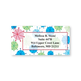 Blue & Green Holiday Balls Sheeted Address Labels