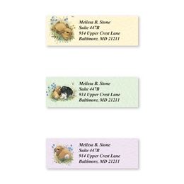 Playful Bunnies Assorted Sheeted Address Labels