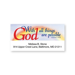 With God Inspirational Sheeted Address Labels