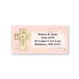 Elegant Flowers of Faith Sheeted Address Labels