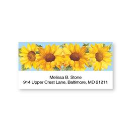 Sunflower Quartet Sheeted Address Labels