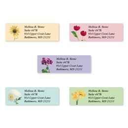 Garden Blossoms Assorted Sheeted Address Labels