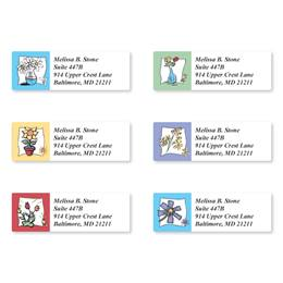 Pretty Petals Assorted Sheeted Address Labels