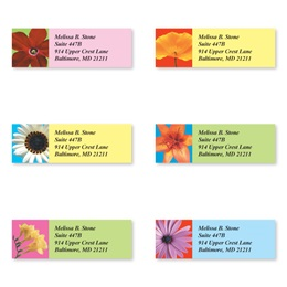 Floral Beauty Assorted Sheeted Address Labels