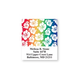 Hibiscus Rainbow Sheeted Address Labels