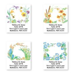 Floral Seasons Assorted Sheeted Address Labels