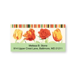 True Tulips Sheeted Addess Labels