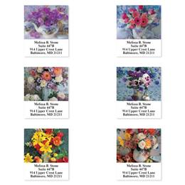 Bouquet in a Vase Assorted Sheeted Address Labels