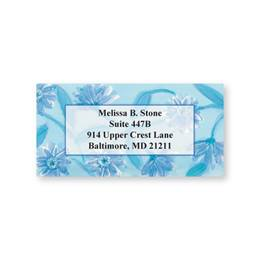 Blue Wildflowers Sheeted Address Labels