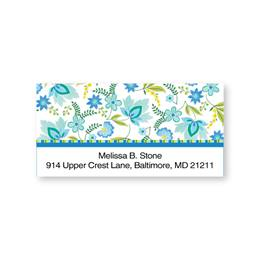 Dainty Floral Motif Sheeted Address Labels