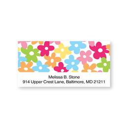Flower Confetti Sheeted Address Labels