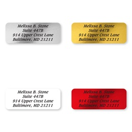 Basic Foil Rectangle Assorted Sheeted Address Labels