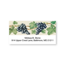 Graceful Grapevine Sheeted Address Labels