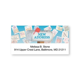 Just Moved Mailbox Sheeted Address Labels