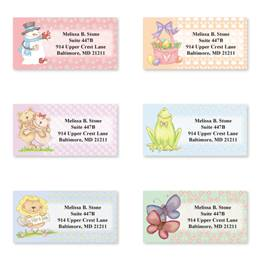 Seasonal Scenes Assorted Sheeted Address Labels