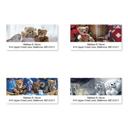 Cuddly Teddy Bear Assorted Sheeted Address Labels
