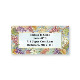 Grape Vineyard Sheeted Address Labels