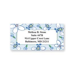 Busy Bees Delight Sheeted Address Labels