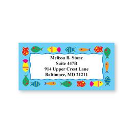 Funny Fishes on Parade Sheeted Address Labels