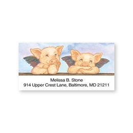 Piglets with Wings Sheeted Address Labels