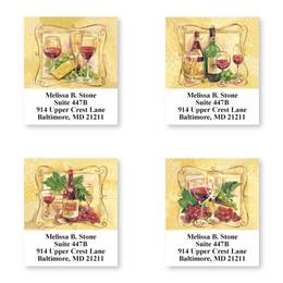 Vintage Wine Assorted Sheeted Address Labels