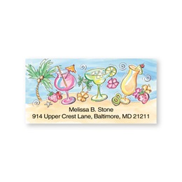 Tropical Beach Coolers Sheeted Address Labels