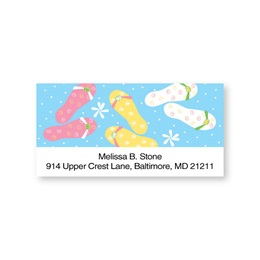 Dots and Flip Flops Sheeted Address Labels