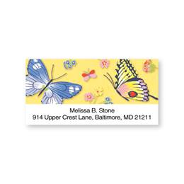 Butterfly Medley Sheeted Address Labels