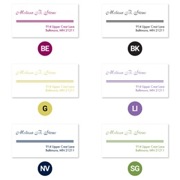 Elegant Accent Lines Sheeted Address Labels