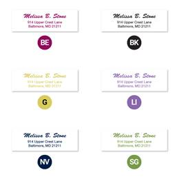 Brush Script Scribble Sheeted Address Labels