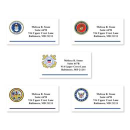 Personalized Official Military Emblem Sheeted Name & Address Labels