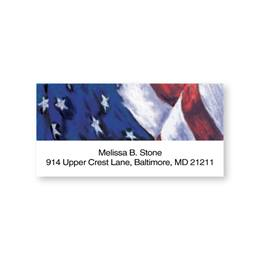 Proud Old Glory Personalized Sheeted Name & Address Labels