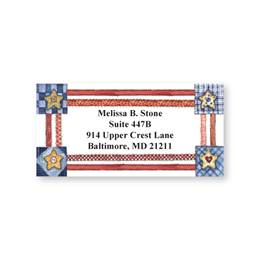 Personalized Country Americana Sheeted Name & Address Labels