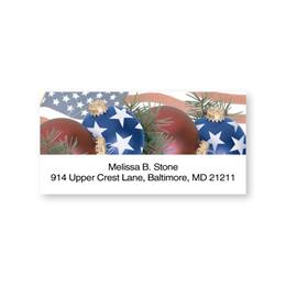Personalized American Pride Holiday Sheeted Name & Address Labels