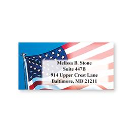 Star-Spangled Pride Sheeted Name & Address Labels