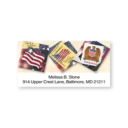 Patriotic Stamps & Symbols Personalized Name & Address Labels