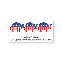 Republican Double Trim Sheeted Address Labels